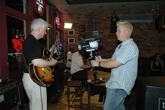 Columbus, OH - Joe shoots guitarist Robert Kraut with Tony Monaco Band at Park Street Tavern.  (Photo by Michael Ivey)
