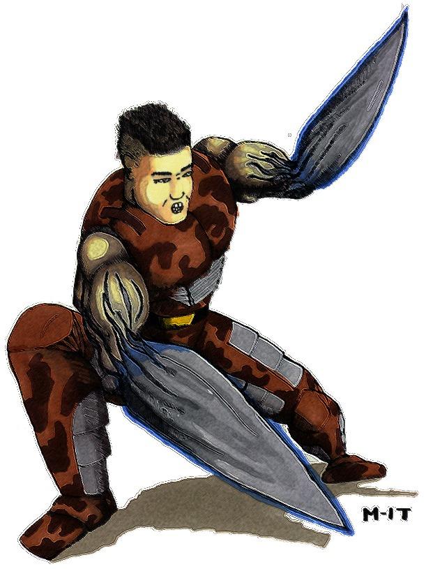 A Scourged Scimrahn - The Blade