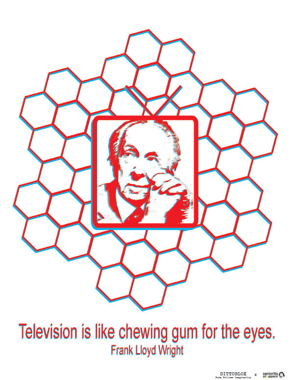 Television is like chewing gum for the eyes.
