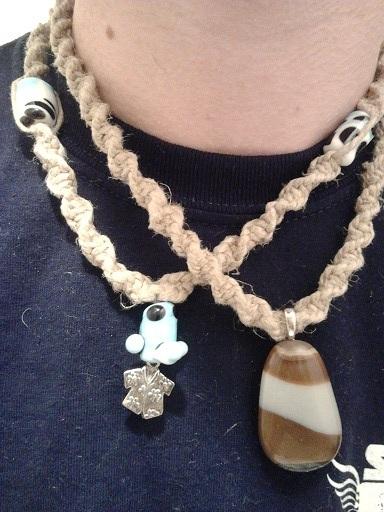 Hemp necklaces similar to those recieved in reward #5