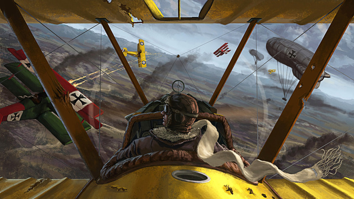 """3D dogfight sequence """"target concept"""" rendering (subject to change)"""