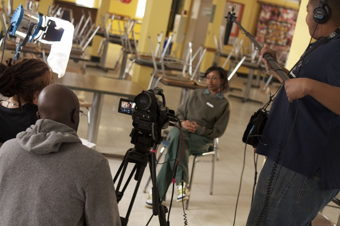blair and Daniel interview Patreese at the Albion Correctional Facility.