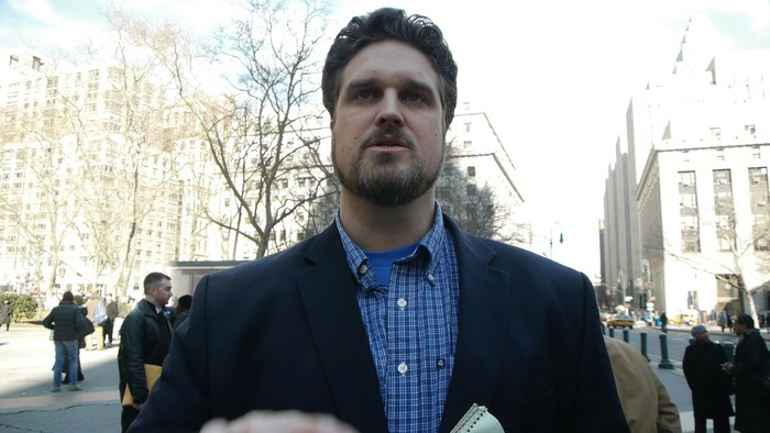 Dave Murphy, Executive Director of Food Democracy Now, Shortly after the OSGATA versus Monsanto hearing in New York
