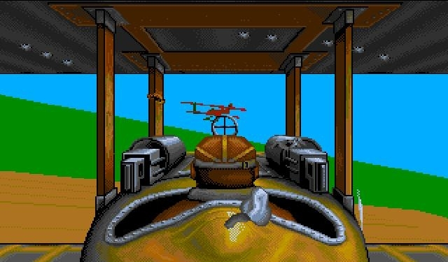 Original Amiga dogfighting screenshot