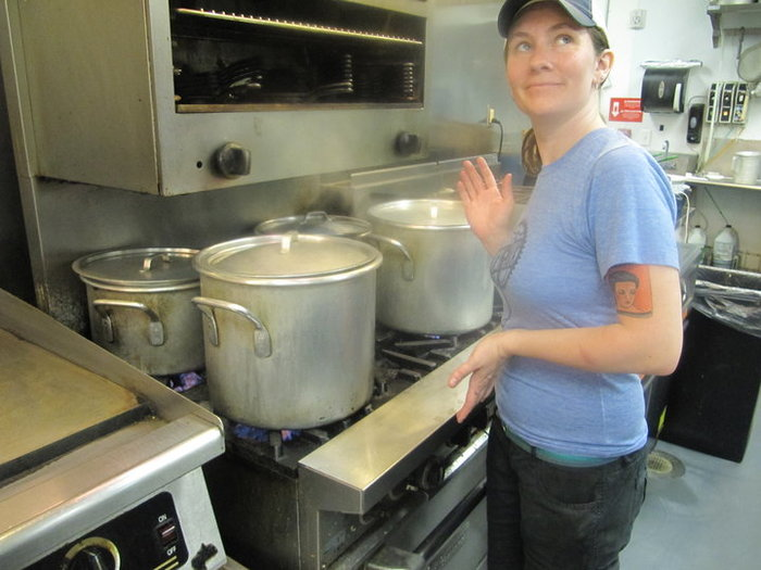 Siobhan, proud to help create just what the Triangle needs: excellent vegan & vegetarian food. ; photo provided by Caroline Morrison
