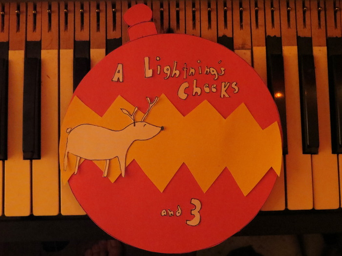 "New Reward - Just Added! ----- Limited Edition (of 20) Flexi-Picture-Disc Christmas Tree Ornament of ""A Lightning's Cheeks"" (from Purim's Shadows), that actually plays on your record player!"