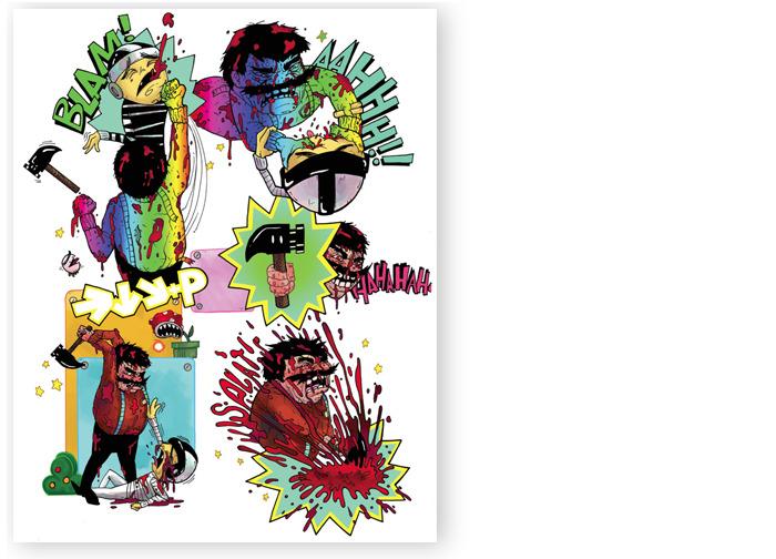 SUPER! art print by Victor Ochoa and Renee Keyes (8.5 x11 inches)