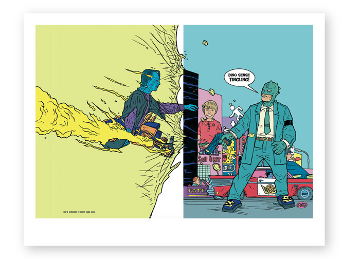 NOBODIES art print of Shake Kane's cover art (comes in 8.5 x11 and 11 x 17 inches)