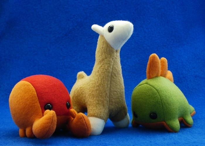 CrabLumplins, LlaMumplins and StegoBumplins