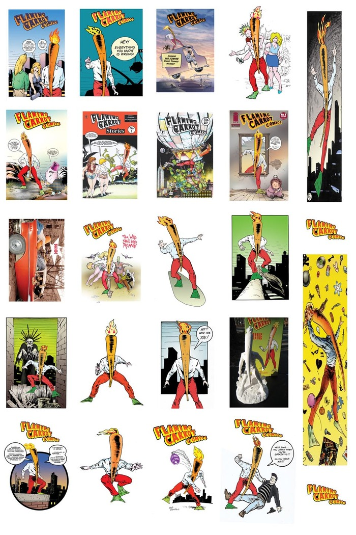 Flaming Carrot Kickstarter trading Card Set - 20 cards