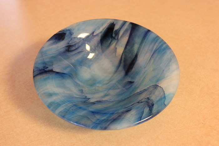 Glass fused Chattooga River Bowls - limited edition of 10