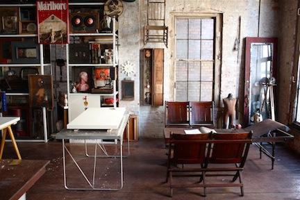 Chong Gon Byun's studio at The Invisible Dog
