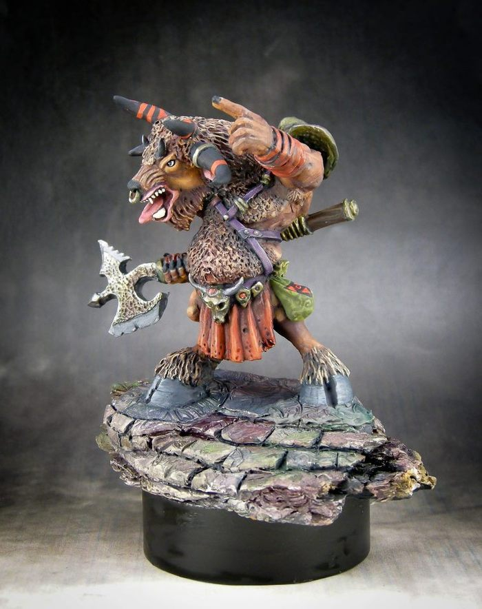 CSM-010 Baphomet, Demon Lord of Minotaurs. Sculpted by Jason Wiebe, Painted by Michael Proctor.