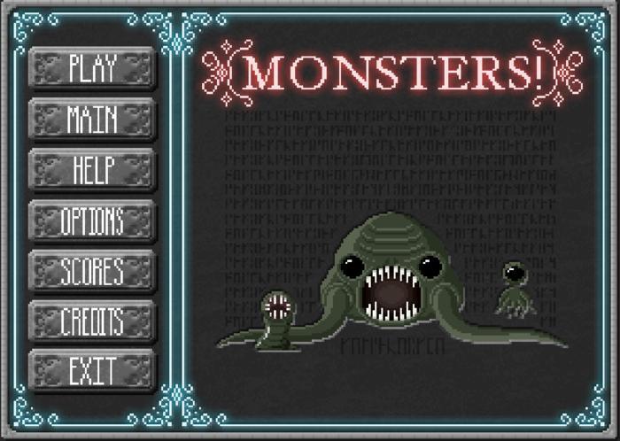 First Draft of the Game Menu Splash Screen