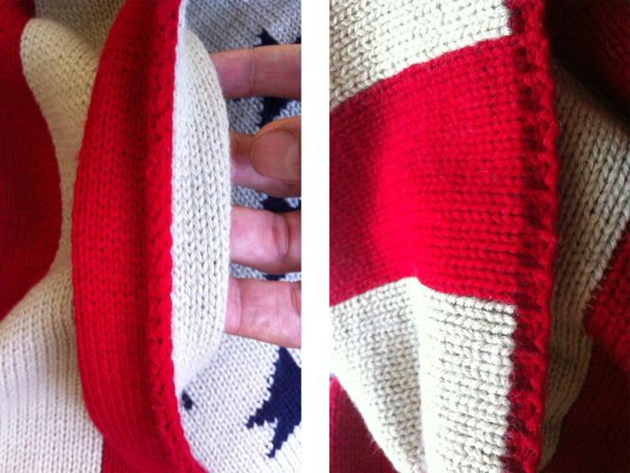 Double Paneled Construction / Detailed knitted edges