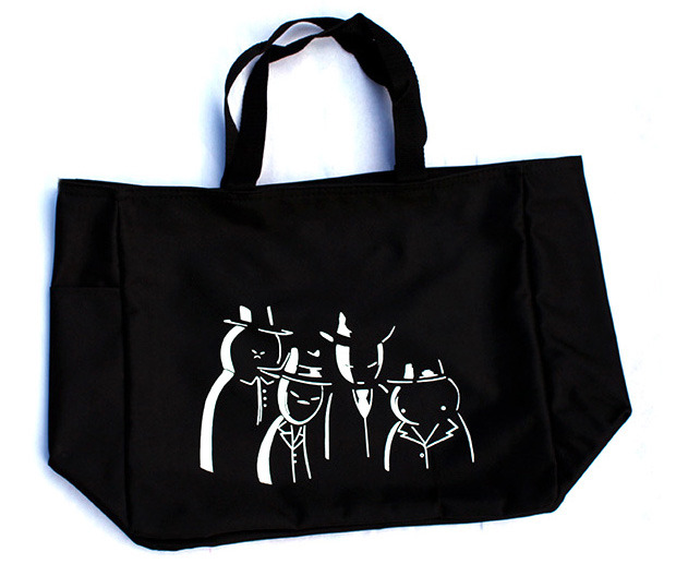 "Black Midnight Crew tote bag (14""w x 12""h x 6.5""d)"