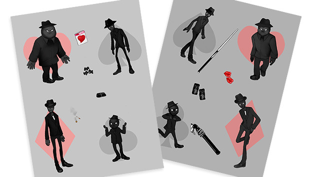 Two Midnight Crew themed sticker sheets by Windy Carnage