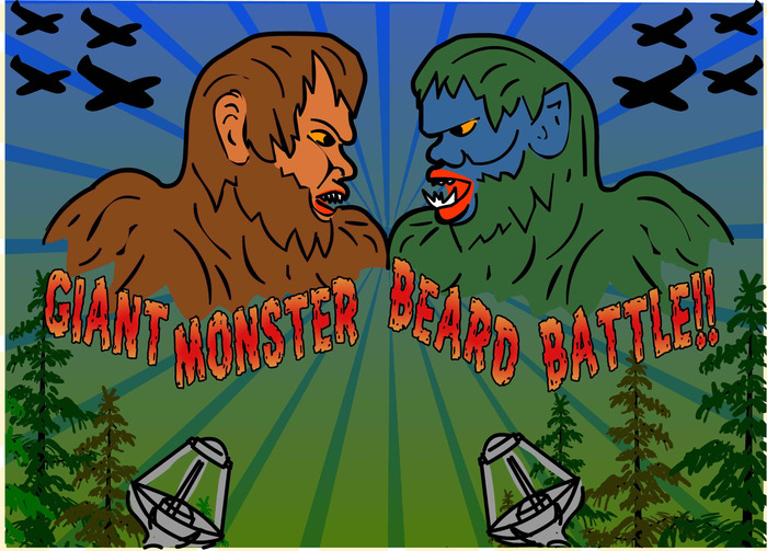 Get the code to unlock a Epic Giant Monster Beard Battle level!