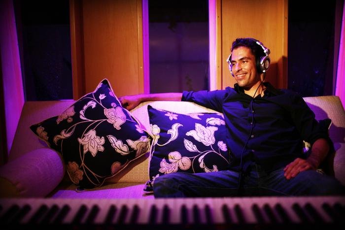 Gael Hedding in his Cancun-based studio
