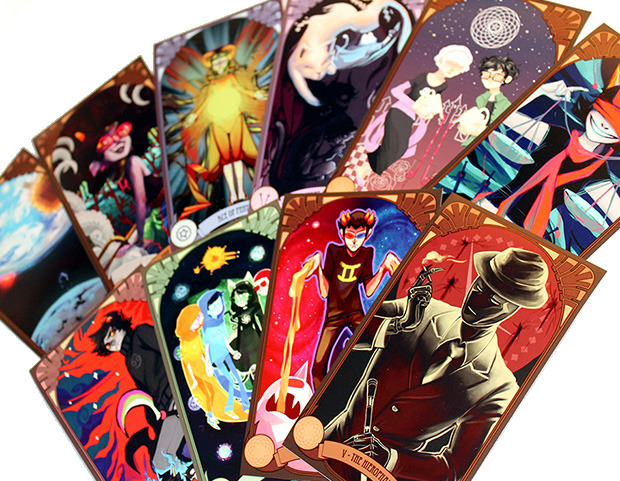 Homestuck themed tarot card deck - 78 cards by 39 artists