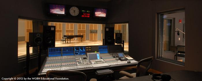 Fraser Recording Studio Engineering Booth (WGBH Boston)