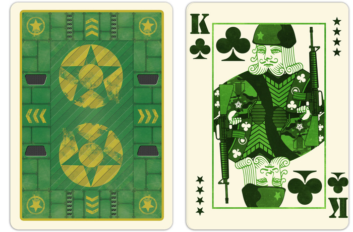 Back Design and King of Clubs with M16