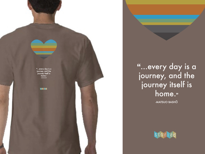 at $50 pledge, get the Storied Shirt