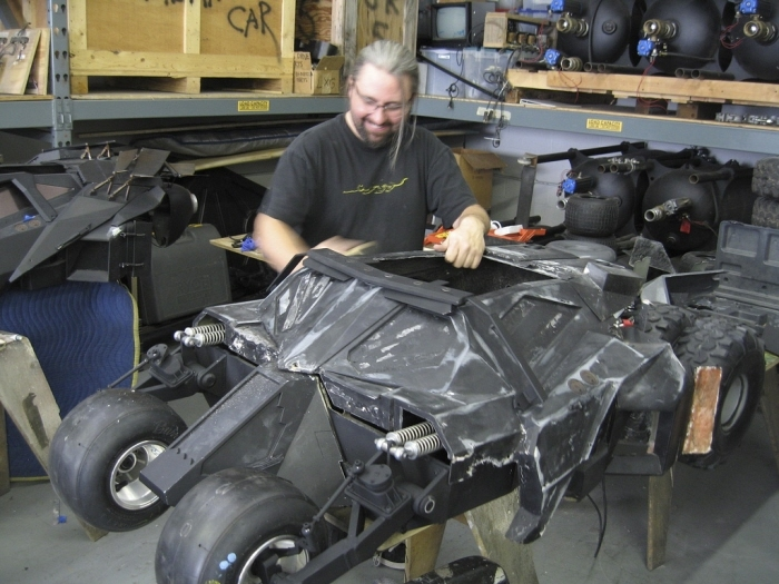 Greg Boettcher, one of our miniature artists, working on The Dark Knight.