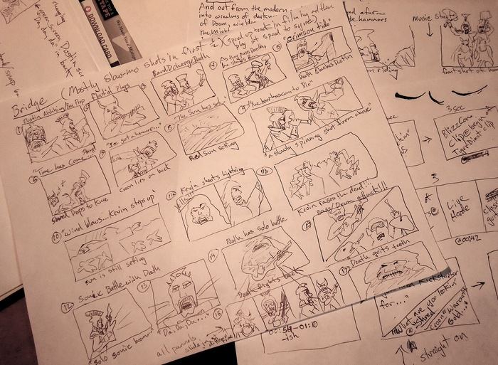 Storyboards for 'Death Is On The Way'