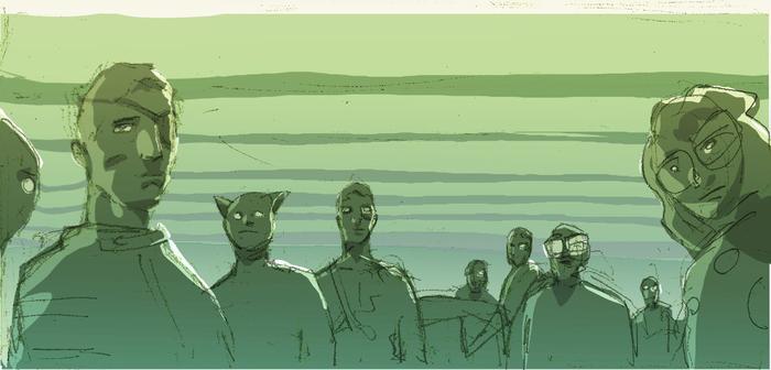 Original Storyboard Art by Per Berg