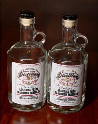Peaden Brothers Whiskey Bottles