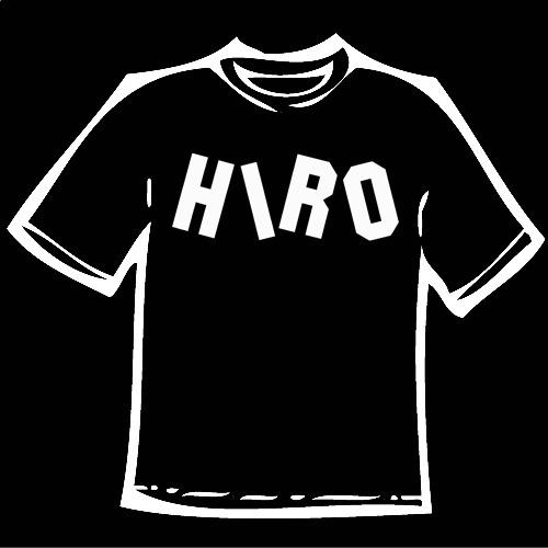 Mockup of Hiro T-shirt