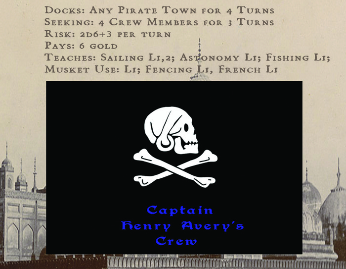 One way to increase your skills in the game is to join crews of other pirate captains. Though this has it's benefits and can be a lucrative occupation, it also puts your character at risk. Be sure to be properly equipped before you go on board.