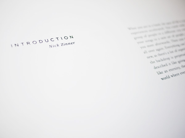 Introduction written by Nick Zinner of the Yeah Yeah Yeahs