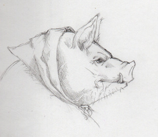 The very first sketch of Mrs. Hogswallop!