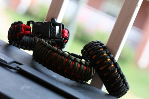 Again, the awesome IN CASE OF Paracord Survival Bracelets - the one pictured is called The SEIGE!