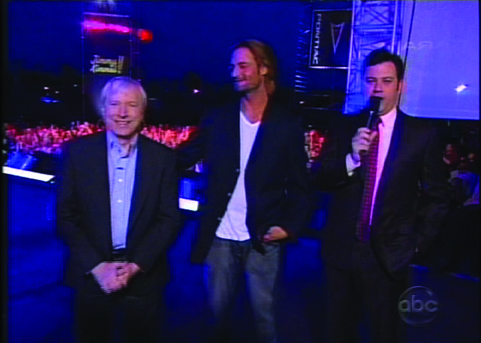Brad Williams with Josh Holloway and Jimmy Kimmel