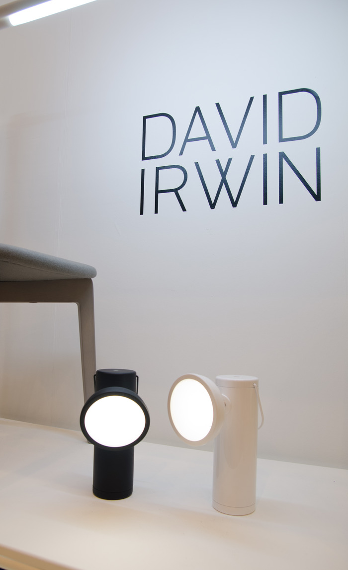 Wireless M Lamp showing off at 100% Design