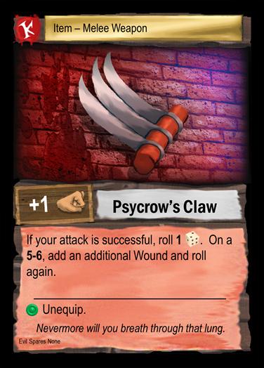 Psycrow's own Steel Rib Ticklers