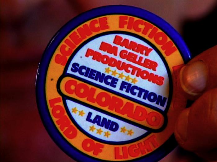 Original 1970s Science Fiction Land pin -- one of our great Kickstarter rewards!