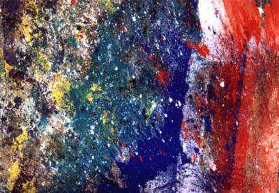 Abstract acrylic painting on canvas by Bill Myers