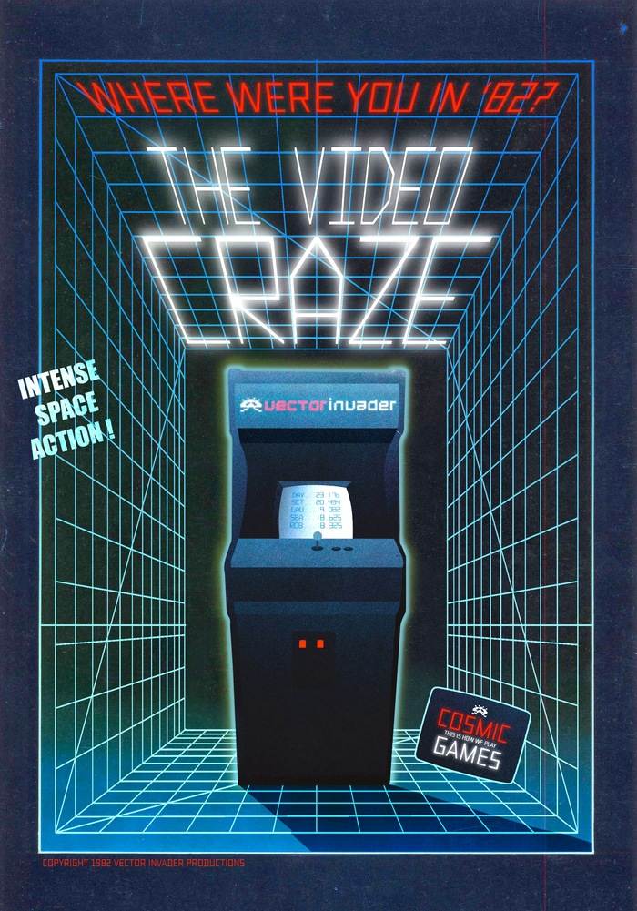 Arcade Flyer based on the film