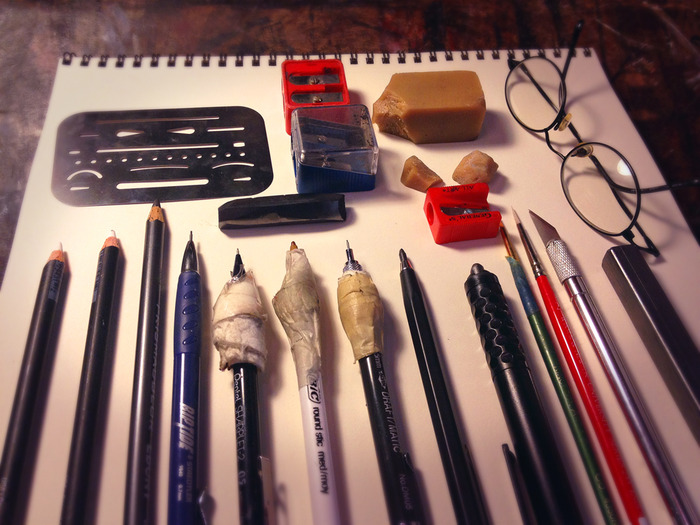 These are the tools I used to create the artwork in this book project.