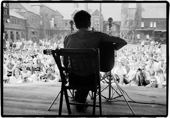 Dylan at Newport 1963.  Yours with a contribution.