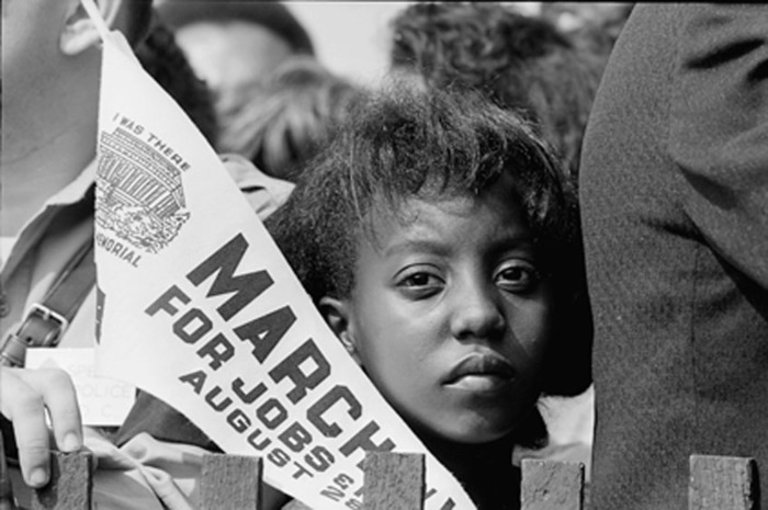 The LIttle Girl At The March on Washington.  Photo by Rowland Scherman. Source: National Archives and Records Administration.