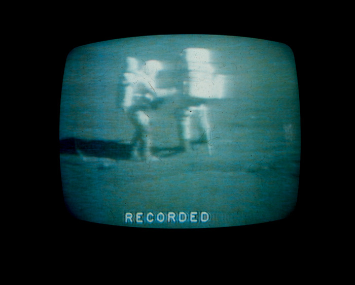 A PHOTOGRAPH MY DAD TOOK FROM THE TELEVISION IN THE EARLY 70's. THE SAHRE FAMILY WATCHED THE APOLLO MOON LANDINGS LIKE CHURCH.