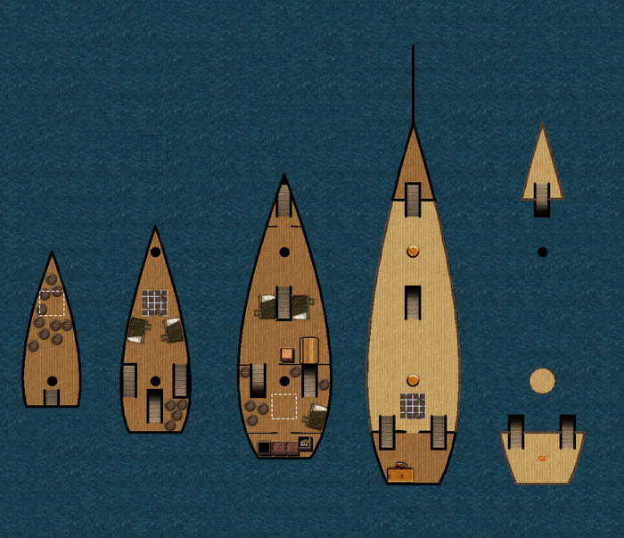 Some of the battle maps in the guide are new ships. Nautical adventure is a large part of the setting.*