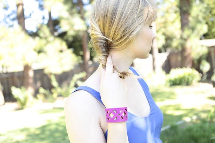 Magenta Diamond Style Bracelet