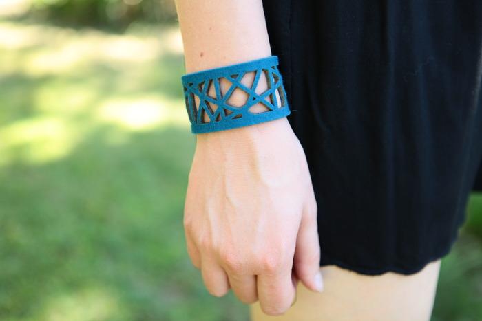 Blue Laser Style Bracelet