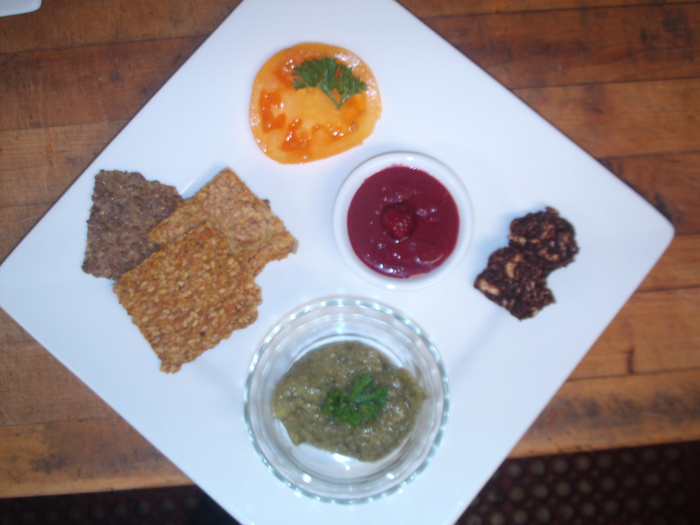 Appetizers: Crackers, Dips, and Monster Cookies ;-)